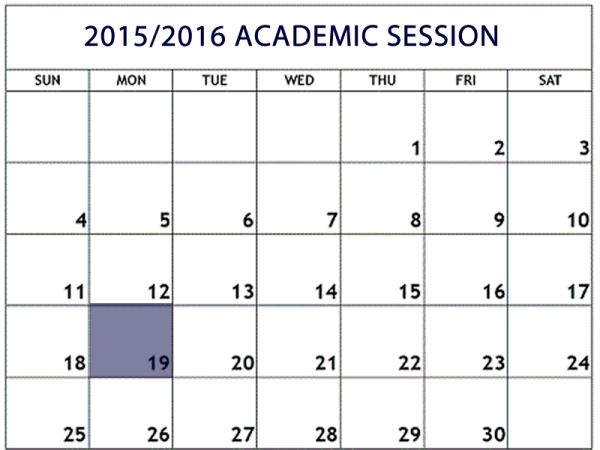 OVERVIEW OF ACADEMIC YEAR, 2015/2016